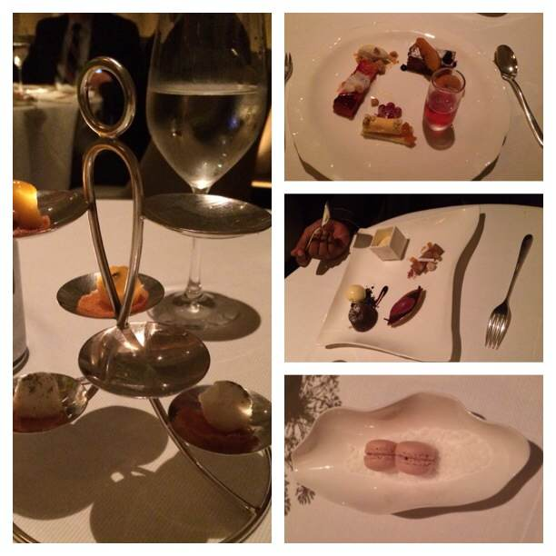 Dessert selection and sorbets to cleanse the palate