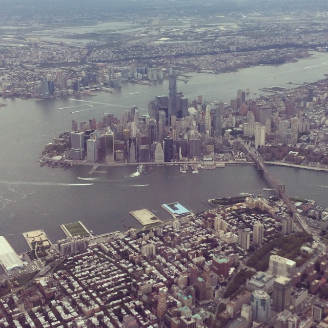View from the flight, as you say hello to New York