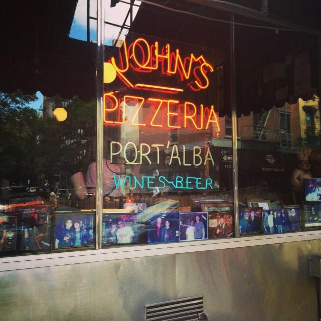 The very very iconic John's Pizzeria!