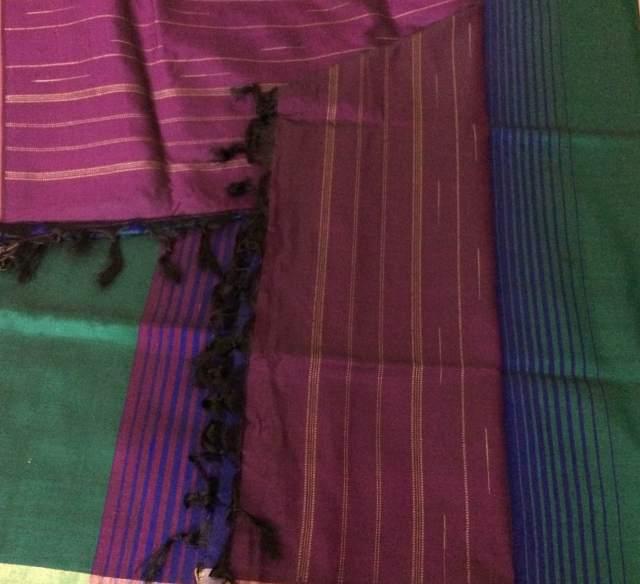 A modern Kanjivaram, playing with colour