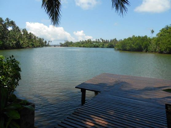 The pier that extends to Koggala Lake