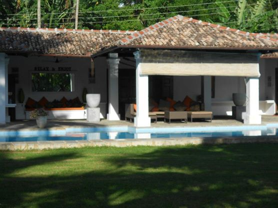 The Private Pool, DIning Area and Kitchen